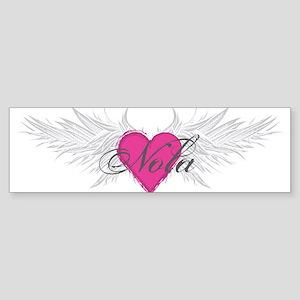 Nola-angel-wings Sticker (Bumper)