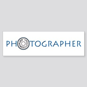 PHOTOGRAPHER-DIAL-BLUE- Sticker (Bumper)