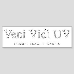 Veni Vidi UV - I Came I Saw I Sticker (Bumper 10 p