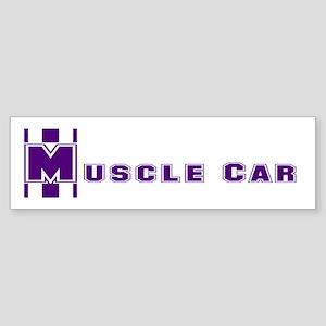 Retro Muscle car stripe-plum Bumper Sticker