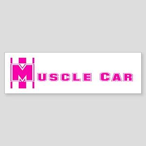 Retro Muscle Car Stripe-Pink- Bumper Sticker