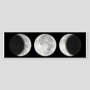 Three Phase Moon Bumper Sticker
