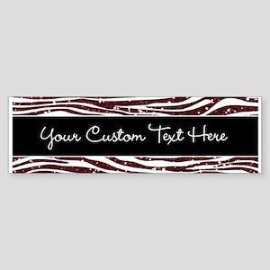Red Black Glitter Custom Sticker (Bumper)