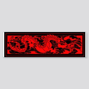 Chinese RED DRAGON Sticker (Bumper)
