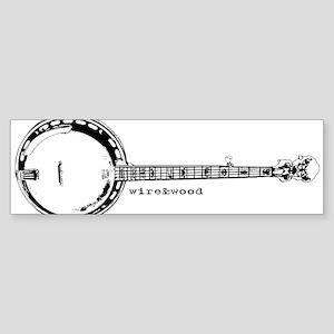 wire&wood Banjo Bumper Sticker