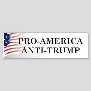 Pro-America Anti-Trump Bumper Sticker