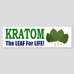 Bumper Sticker - Kratom, The Leaf For Life