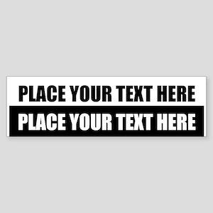 Text message Customized Bumper Sticker