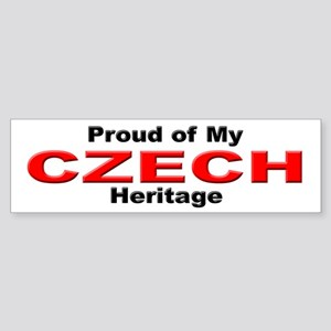 Proud Czech Heritage Bumper Sticker