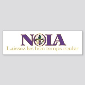 NOLA Mardi Gras Bumper Sticker