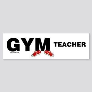 Gym Teacher Sneakers Sticker (Bumper)