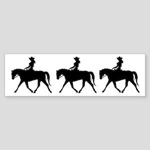 Three Cute Cowgirls Bumper Sticker
