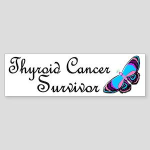 Butterfly Survivor 3 (Thyroid Cancer) Sticker (Bum