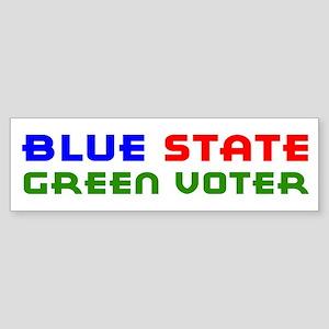 Blue State Green Voter Bumper Sticker