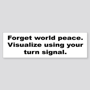Use Your Turn Signal Bumper Sticker