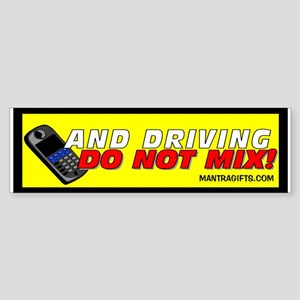 Cell Phones and Driving Don't Mix Sticker (Bumper)