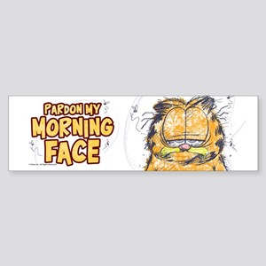 PARDON MY MORNING FACE Sticker (Bumper)