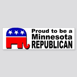Proud Minnesota Republican Sticker (Bumper)