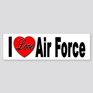 I Love Air Force Bumper Sticker