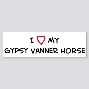 I Love Gypsy Vanner Horse Bumper Sticker