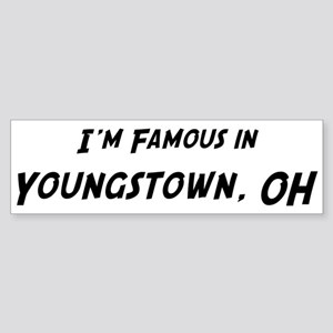 Famous in Youngstown Bumper Sticker