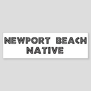Newport Beach Native Bumper Sticker