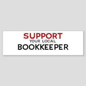Support: BOOKKEEPER Bumper Sticker