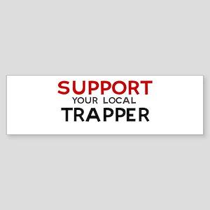 Support: TRAPPER Bumper Sticker