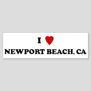I Love Newport Beach Bumper Sticker