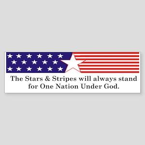Stars & Stripes Bumper Sticker