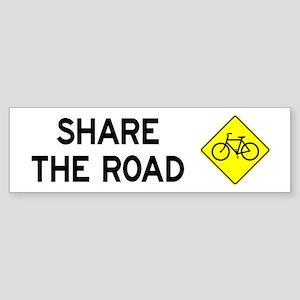 Bike Sign Share the Road Bumper Sticker
