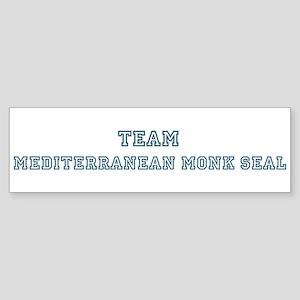 Team Mediterranean Monk Seal Bumper Sticker