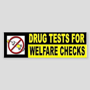 WELFARE DRUG ADDICTS Bumper Sticker