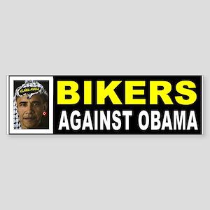 OBAMA BIKER BUMPER_001 Bumper Sticker
