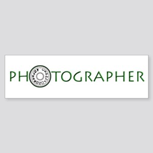 PHOTOGRAPHER-DIAL-GREEN- Sticker (Bumper)