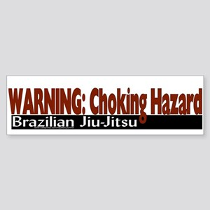 """Warning: Choking Hazard"" Bumper Sticker"