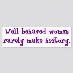 Women Make History Bumper Sticker
