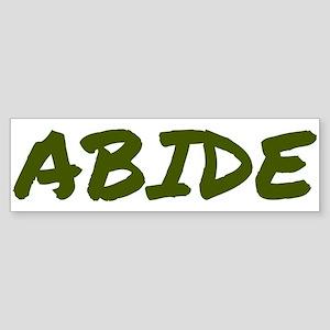Abide Sticker (Bumper)