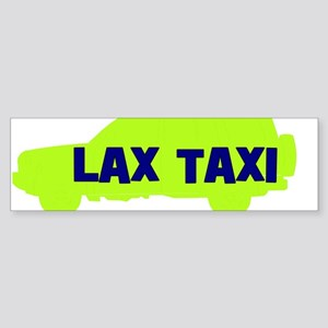 Lax Taxi Green Bumper Sticker