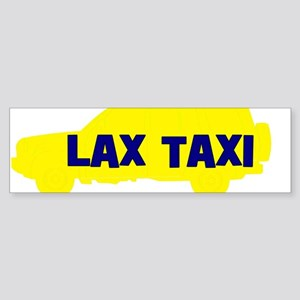 Lax Taxi Yellow Bumper Sticker