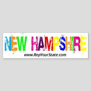 Colorful New Hampshire Bumper Sticker