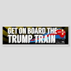 Board the Trump Train Bumper Sticker
