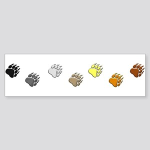 BEAR PRIDE PAWS/REVERSE Bumper Sticker