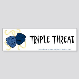 Theatre Masks 3T Bumper Sticker