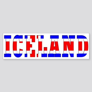 Iceland Map (Word) Bumper Sticker