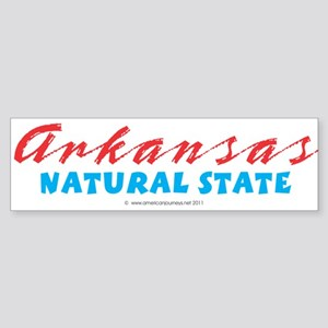 Arkansas - Natural State Sticker (Bumper)