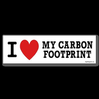 I Love My Carbon Footprint Bumper Bumper Sticker I Love My Carbon