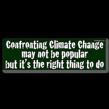 Confronting Climate Change Bumper Bumper Sticker