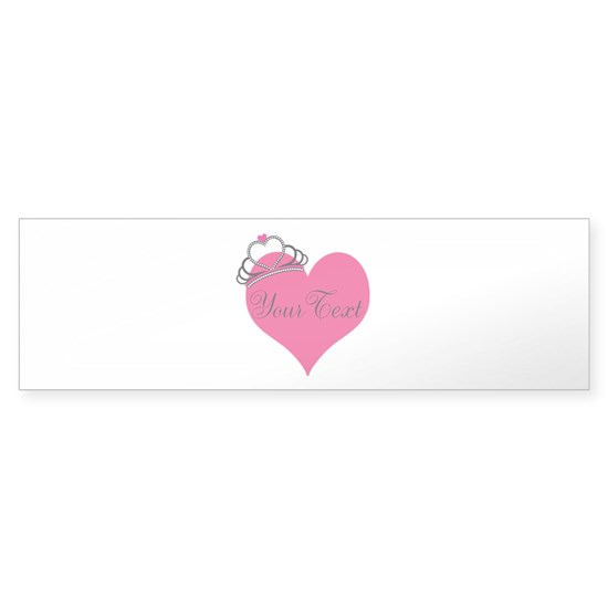Personalizable Pink Heart with Crown