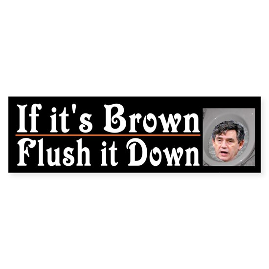Stuff it down with brown